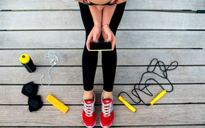 Picture cell, strings, fitness, sportswear