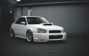 Picture white, subaru, wrx, impreza, Subaru, sti, Impreza