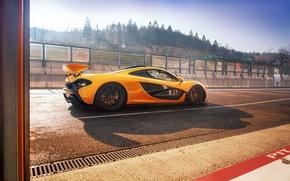 Picture McLaren, track, Yellow, McLaren, Supercar, Yellow, Hypercar, Supercar, Hypercar, Spa