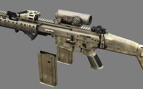Picture gun, game, weapon, rifle, video game, FPS, assault rifle, sugoi, subarashii, FN Scar, ordnance, FN …