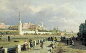 Picture picture, Vereshchagin, View of the Moscow Kremlin