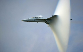 Wallpaper Super Hornet, Boeing, F/A-18F, carrier-based multirole fighter, transition the sound barrier