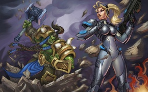Picture Orc, art, Thrall, Heroes of the Storm, nova, nova terra