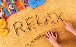 Picture relax, summer, beach, sand