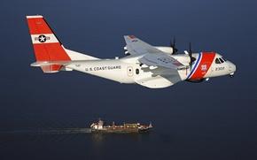 Picture sea, the plane, tanker, sea, patrol, coast, protection, CN-235, CASA