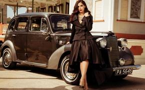 Picture machine, auto, retro, costume, vintage, Sarah Jane Waddell