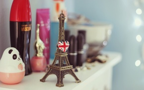 Picture background, Wallpaper, mood, Eiffel tower, figurine