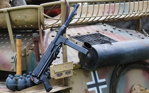 Picture weapons, war, grenades, the gun, world, Second, times, MP 40