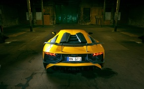 Picture auto, tuning, Lamborghini, spoiler, rear view, back, Aventador, Lamborghini, exhausts, Novitec, Torado, LP 750-4, Superveloce
