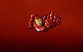 Wallpaper red, steel, iron man, marvel, comic, iron man