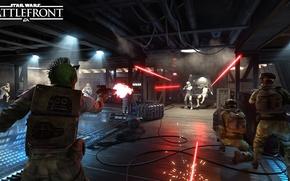 Picture star wars, star wars, the rebels, stormtroopers, Electronic Arts, dice, FPS, Frostbite 3, battlefront, battle …