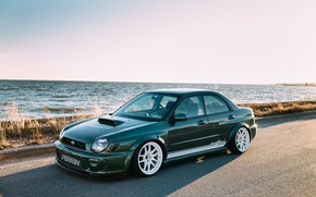 Picture sea, tuning, view, turbo, white, wheels, subaru, sea, japan, wrx, impreza, jdm, tuning, power, Subaru, …