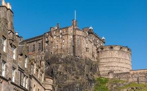 Picture the sky, castle, Scotland, Edinburgh
