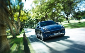 Picture speed, Porsche Cayenne, luxury