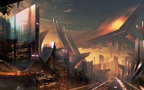 Picture the city, fiction, skyscraper