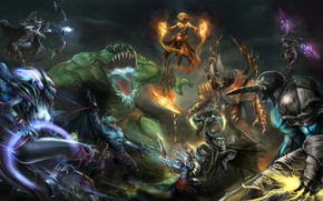 Picture heroes, the battle, Defense of the Ancients, DOTA