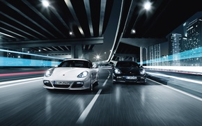 Picture road, speed, porsche, race