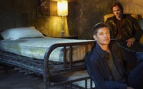 Wallpaper The winchesters, promo, Sam, Supernatural, Dean, series