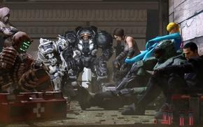 Picture starcraft, Halo, dead space, Lightning, Mass Effect, art, bulletstorm, Shepard, Mster Chief, vanquish, final fantasy …