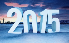 Picture sunset, Wallpaper, Desk, New Year, wallpaper, Christmas, sunset, winter, background, snow, New Year, 2015
