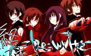 Picture weapons, girls, the inscription, anime, art, guys, b-ko, a-ya, wannyanpu, shuuen no shiori project, d-ne, …