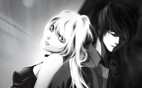 Picture girl, guy, death note, death note