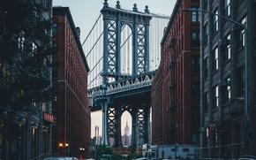 Picture the city, home, USA, New York, Brooklyn bridge
