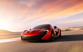 Picture Concept, McLaren, Auto, Road, Machine, Orange, Day, Sports car, In motion