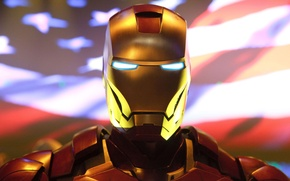 Picture red, flag, costume, iron man, usa, Iron man