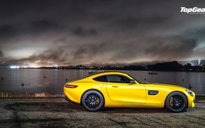Picture Mercedes-Benz, Top Gear, AMG, Yellow, Side, Supercar, 2015