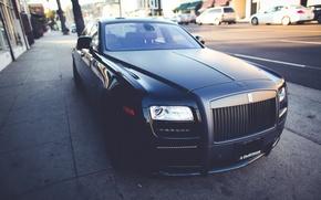 Picture Rolls-Royce, Ghost, Black, Matte, Luxury