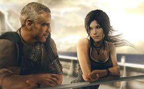 Picture girl, ship, lara croft, tomb raider, Square Enix, fan art, Crystal Dynamics, tomb raider reborn, …