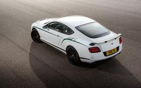 Picture white, asphalt, strip, Bentley, Continental, 2014, GT3-R