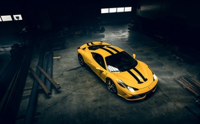 Picture Ferrari, 458, Yellow, Speciale