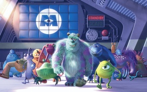 Wallpaper cartoon, characters, Monsters Inc., Monsters Inc
