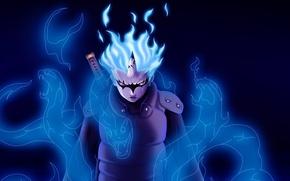 Picture fire, flame, sword, game, snake, blue, anime, katana, ken, fang, ninja, evil, asian, manga, shinobi, …
