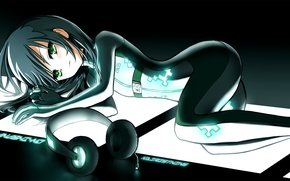 Picture anime, headphones, art, Vocaloid