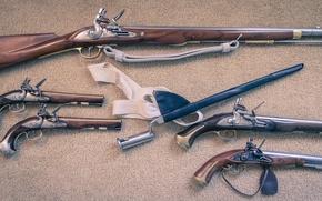 Picture weapons, guns, vintage, bayonet