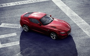 Picture machine, bmw, red, zagato coupe
