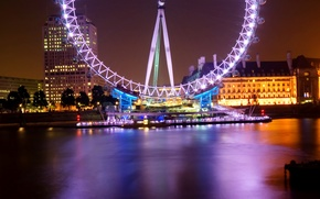 Picture night, London, The city, Ferris wheel