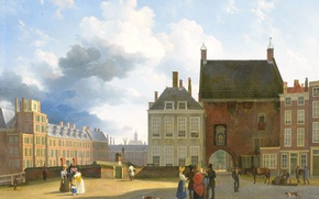 Picture the city, picture, the urban landscape, Pieter Daniel van der Burgh, The area near the …
