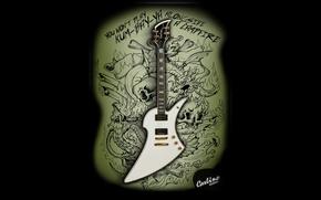 Wallpaper guitar, Carlino Guitars, You won't play Kum-ba-ya alongside a campfire, Don't risk to play kum-bay-ya ...