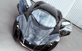 Picture door, supercar, black, the front, MaRussia