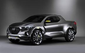 Wallpaper Concept, Hyundai, Santa, Cruz, Hyundai