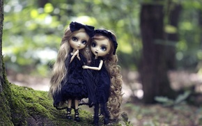 Picture nature, Gothic, girls, toys, doll, blonde, long hair, gatesy