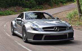 Picture car, auto, Mercedes-Benz, Mercedes, road, AMG, speed, Black Series, SL 65