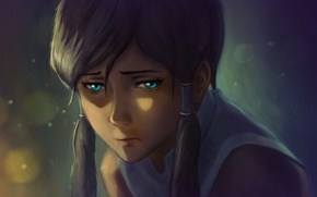 Picture sadness, girl, face, fire, art, the reflection, avatar, times, the legend of korra, br0ny