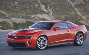 Picture Chevrolet, Camaro, Orange, Parking, ZL1
