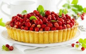 Picture berries, strawberries, pie, cake, cakes, berries, strawberries, pastries