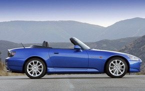 Picture mountains, convertible, Honda, S2000